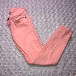 Current/Elliott coral pink jeans size 26